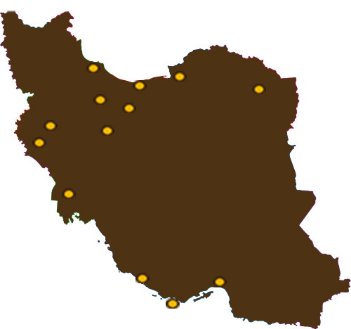 iran map Brown